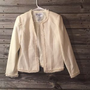 White sparkle jacket Size 4
